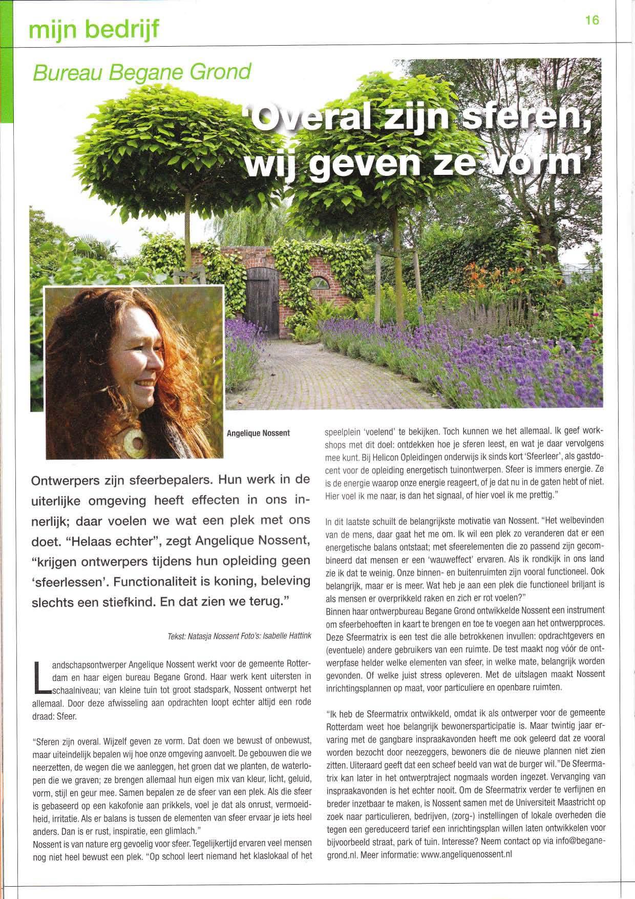 VVA magazine Angelique Nossent